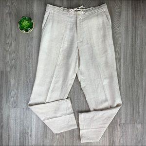 Tasso Elba Men's Linen Pants Button/ Drawstring